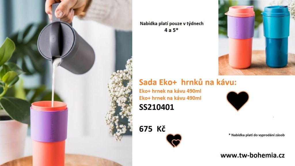 Tupperware nabídka na týden 4 a 5. Eko+ hrnky